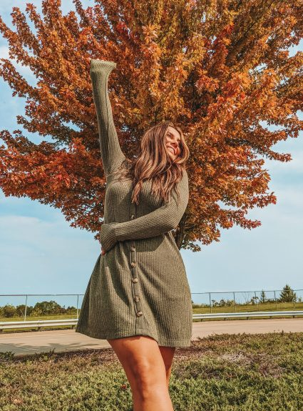 An Army Green Dress | LexTober
